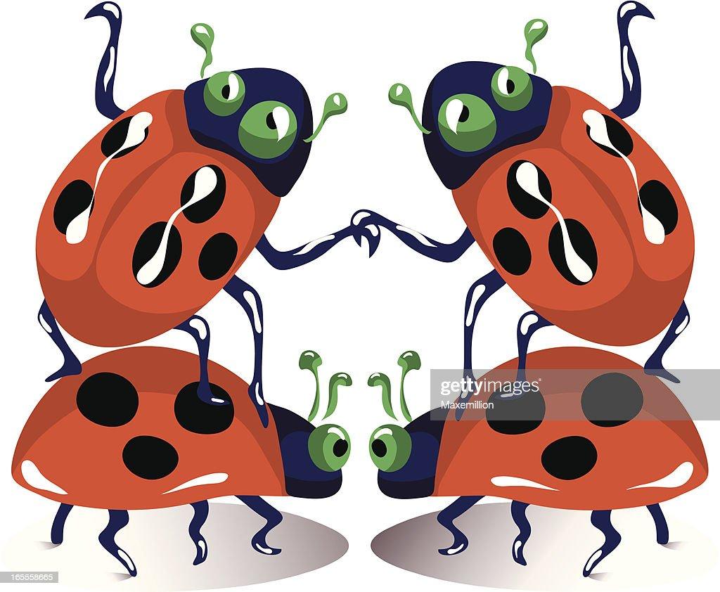 dancing ladybugs vector art getty images