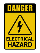Danger Electrical Hazard Triangle