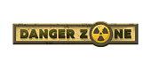 Danger zone, grungy emblem sign