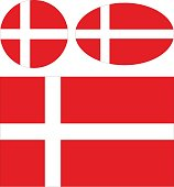 vector illustration of Danish flags