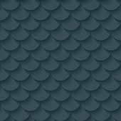 Dark gray fish scale seamless background. Neutral tileable pattern of fishscale. Vector EPS10.