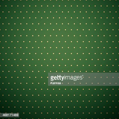 Dark Green Background With Yellow Polka Dot Pattern Vector ...