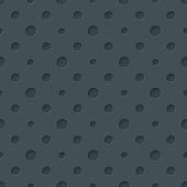 Dark perforated polka dots paper with cut out effect. Abstract 3d seamless background. Vector EPS10.