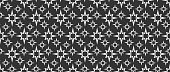Dark seamless abstract background pattern. Geometric pattern, vector image.