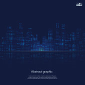 Dark urban scape. Night city skyline abstract background. Modern night city landscape. Eps10 Vector illustration