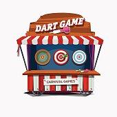 dart game. carnival cart concept - vector illustration