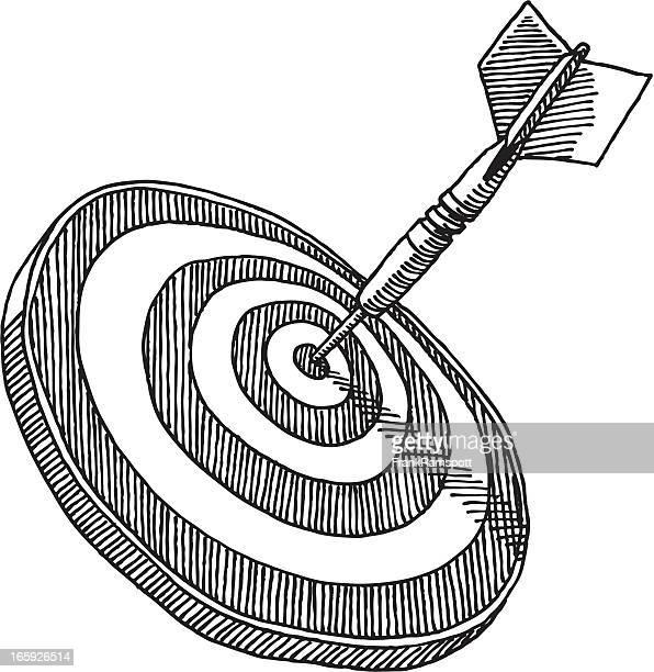 Dart Target Bullseye Drawing