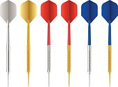 Darts set on a white background.