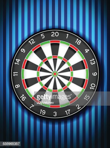 dartboard on wall : Vector Art