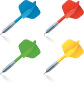 Set of 4 color darts. File includes additional formats(AI, PDF, SVG).