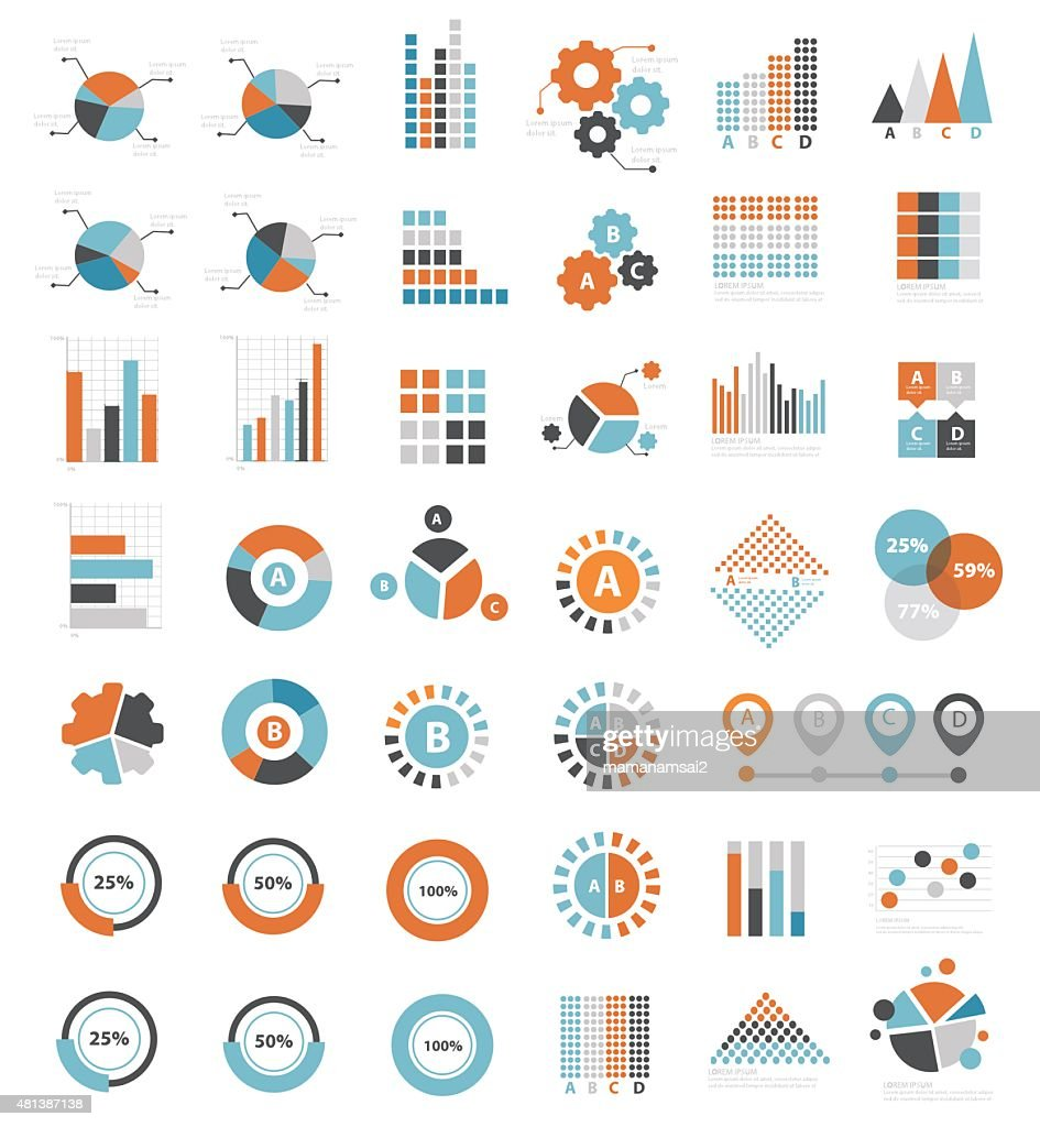 Data analysis design for info graphic,clean vector