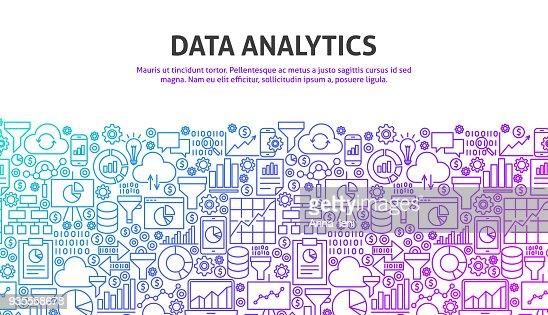 Data Analytics Concept : stock vector