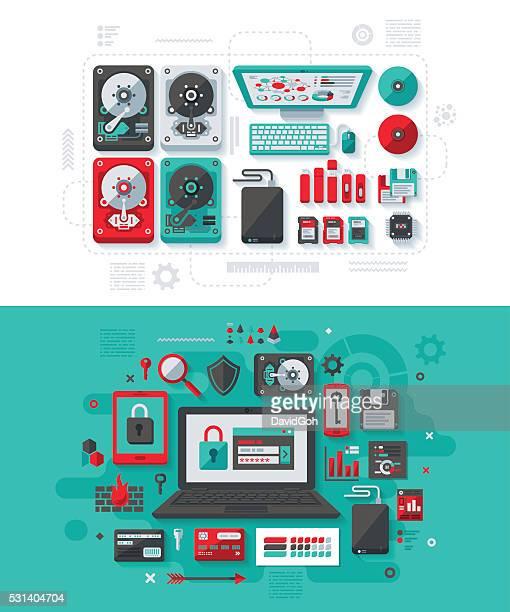 Data Storage & IT Security Concept