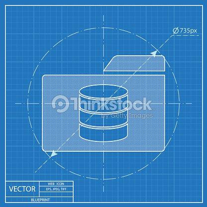 Database folder blueprint style vector art thinkstock database folder blueprint style vector art malvernweather Images