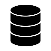 Database Icon.  96x96 for Web Graphics and Apps.  Simple Minimal Pictogram. Vector