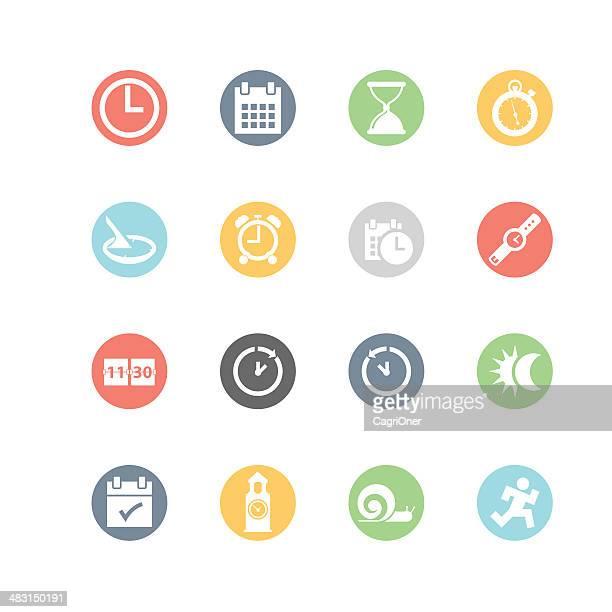 Icone di data e ora: Stile minimalista