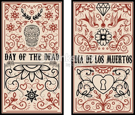 Day Of The Dead Dia De Los Muertos Set Of Banner Templates Vector ...