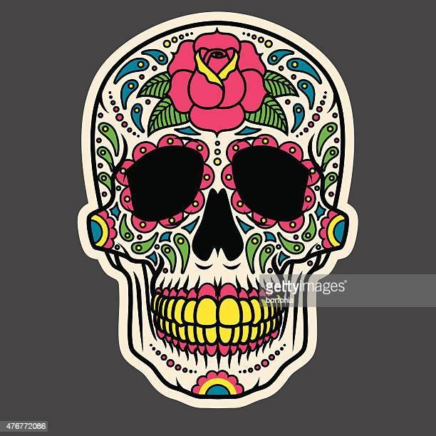 Día del azúcar cráneo muerto icono de Calavera