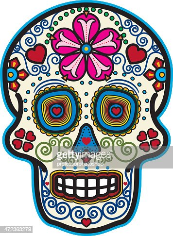 Day Of The Dead Sugar Skull Vector Art Getty Images