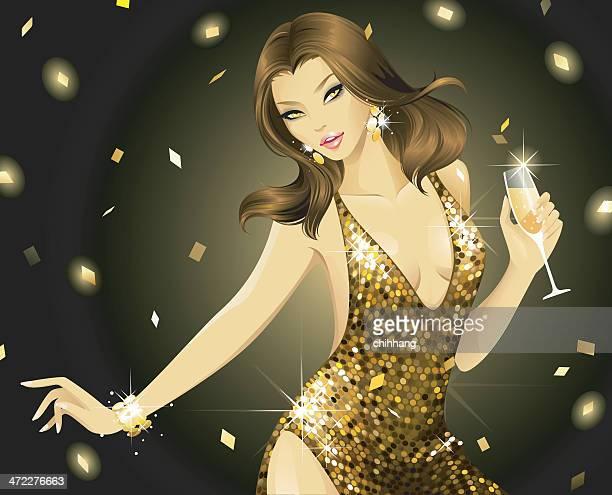 Atemberaubende Disco (Gold