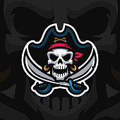 """Dead Pirate"" mascot . Eps10 vector."