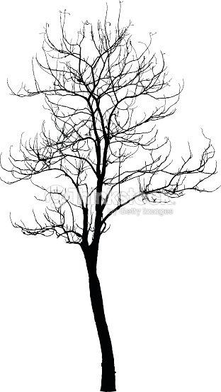 arbre mort sans feuilles vecteur clipart vectoriel - Arbre Sans Feuille