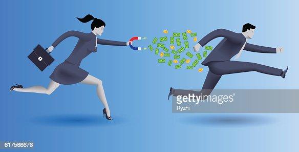Debt collector business concept : stock vector