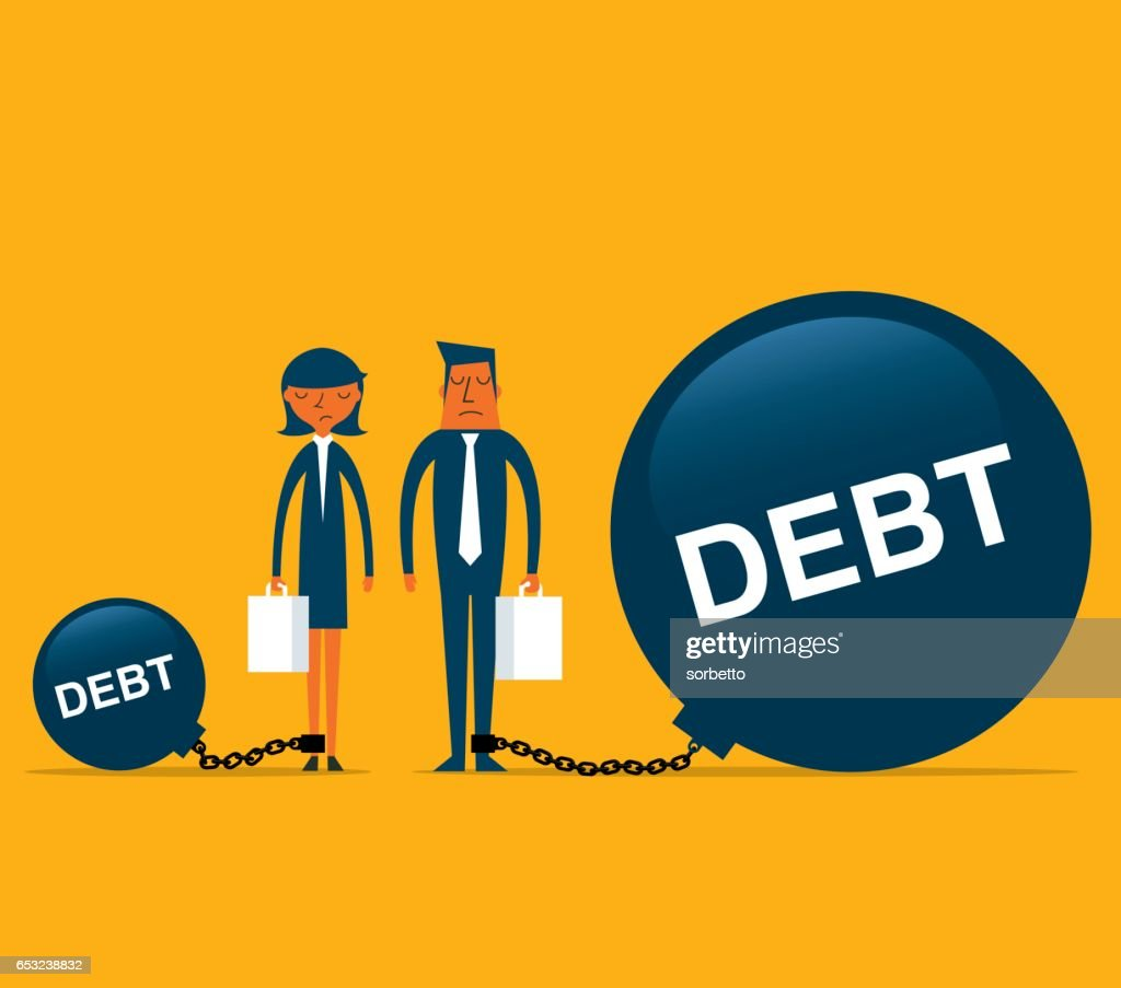 Debt with Business person : Vector Art