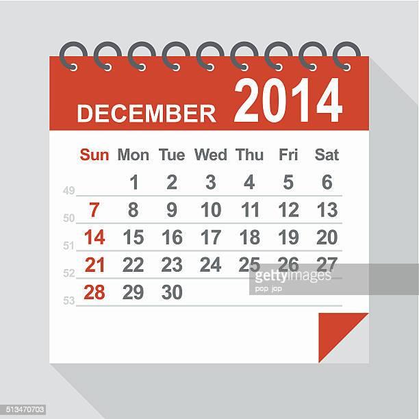 December 2014 calendar - Illustration