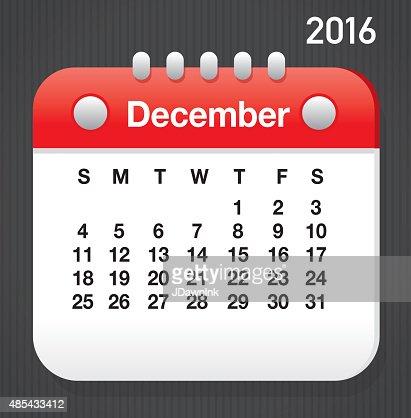 Распечатать календарь на декабрь 2016