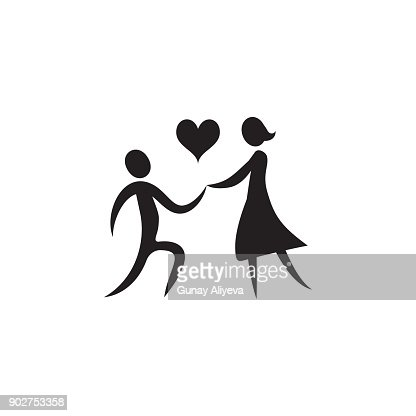 Declaration Of Love Icon Valentines Day Elements Premium Quality