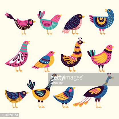 Decorativos de aves : Arte vetorial