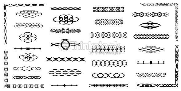 c0a4690e42f0f Bordes Decorativos Separadores Remolinos Dividir Rollos Conjunto De ...