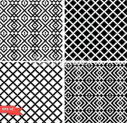 damier noir et blanc des motifs ensemble clipart vectoriel thinkstock. Black Bedroom Furniture Sets. Home Design Ideas