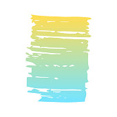 Hand draw  brush strokes. Decorative colored  frame. Grunge banner, substrate.