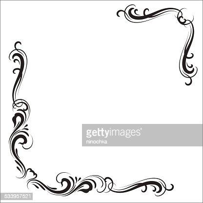 Decorative Corners Vector Art | Getty Images