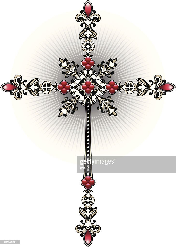 Decorative Cross Vector Art | Getty Images