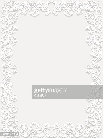 Decorative floral frame : Vector Art