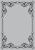 Vector decorative frame. This is a vector image - you can simply edit colors.
