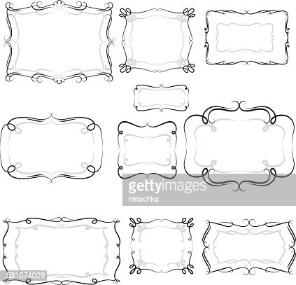 decorative frames vector art - Decorative Frames