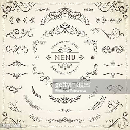 Decorative Ornate Elements : Vector Art