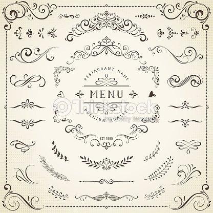 Decorative Ornate Elements : stock vector