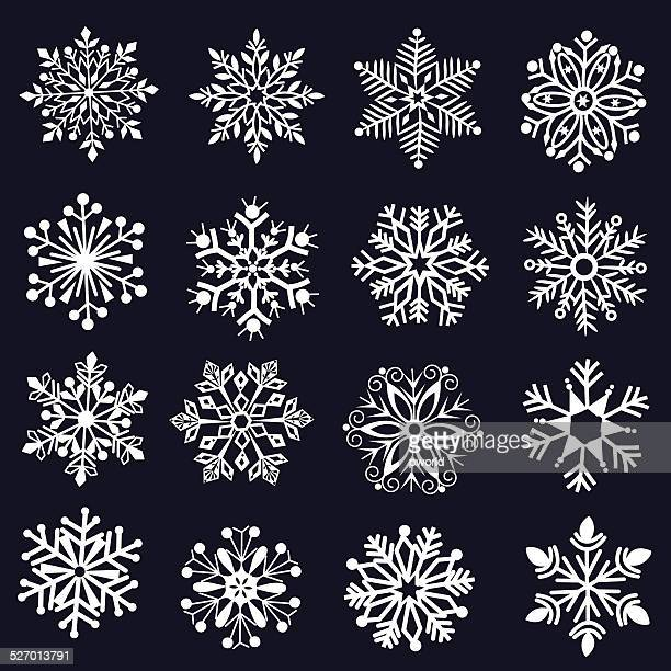 Decorative snowflakes .