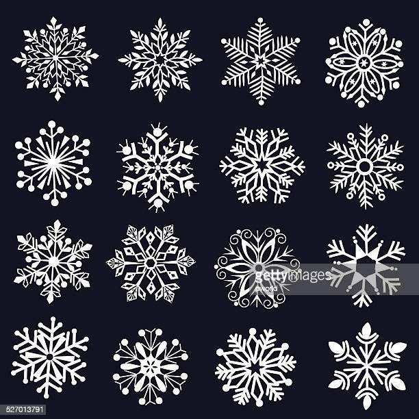 Dekorative Schneeflocken.