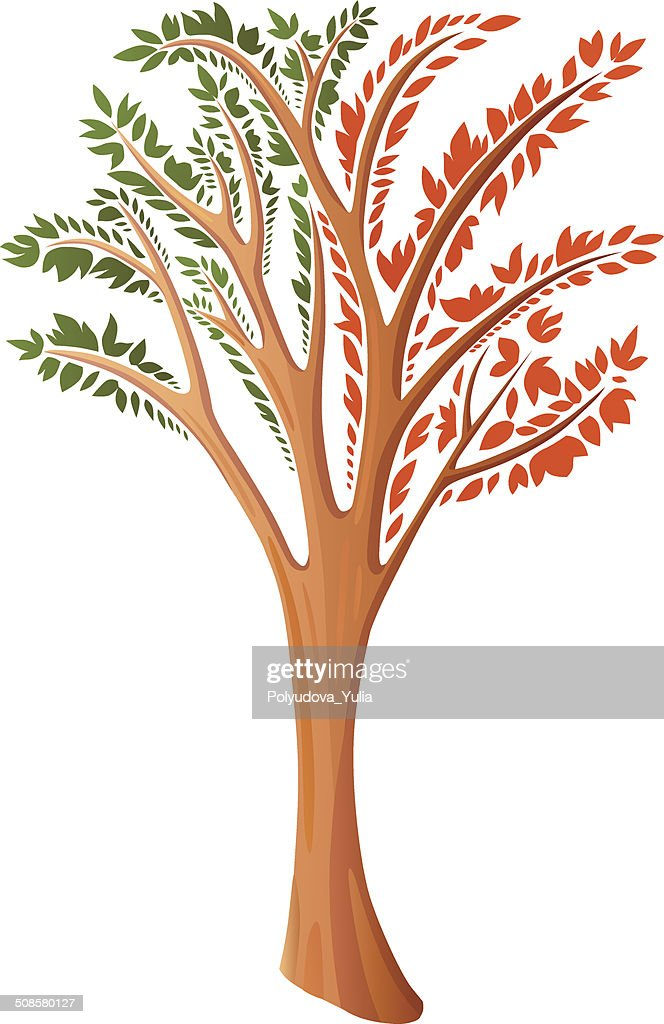 Decorative stylized tree : Vector Art