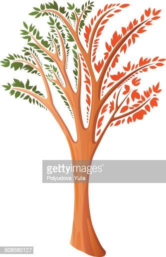 Dekorative stilisierten Baum : Vektorgrafik