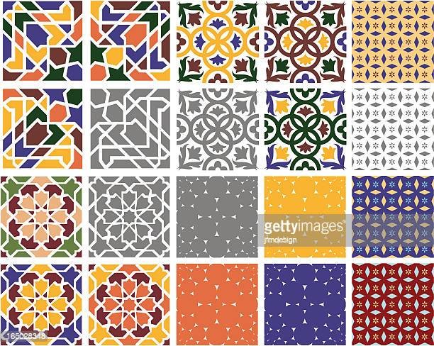 Tile stock illustrations and cartoons getty images for Spanish decorative tile