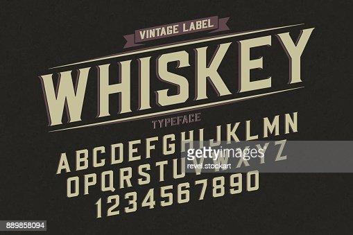 Tipografía retro vintage vector decorativo, font, letras del alfabeto : Arte vectorial