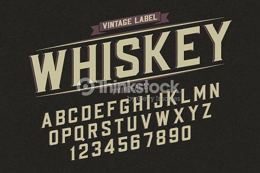 Decorative vector vintage retro typeface, font, alphabet letters : stock vector