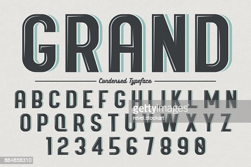 Decorative vector vintage retro typeface : Vector Art
